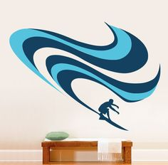 Vinyl Wall Decal Sticker Surfing Wave #277 | Stickerbrand wall art decals, wall graphics and wall murals.