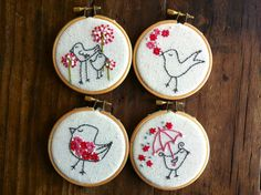 embroidery pattern // Mega Bird embroidery pattern  by dioramatist