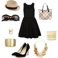 Classic Black Dress, created by enagel88