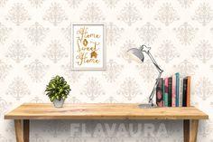 illustration typographique citation proverbe Home Sweet Home : Affiches, illustrations, posters par flavaura