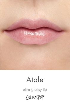 Atole metallic gold with a pink shift Ultra Glossy Lip swatch on fair skin