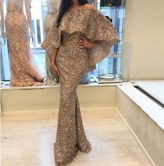 Luxury New design Arabic glitter Evening Gowns(Rose Gold/Gold) - Nirvanafourteen Glitter Prom Dresses, Pink Prom Dresses, Cheap Evening Dresses, Elegant Dresses, Formal Dresses, Elegant Evening Gowns, Muslim Evening Dresses, Hijab Evening Dress, Long Sleeve Evening Gowns