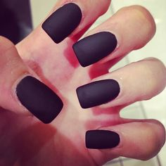 Black matte nails::sexy::womanly::gorgeous::girly nails::matte style::fancy;:cute::want::NoEllie0123