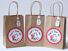 Bowling party favors bowling party bags bowling by ILoveYouBunches