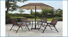 Fresh Patio Dining Set With Umbrella Seats 4