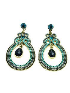 Oorbellen met groene, grijze en blauwe kralen (steker) van Wings voor maar 10,95 per paar #earring