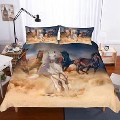 King Size Bedding Sets, Cheap Bedding Sets, Comforter Sets, Horse Bedding, Horse Quilt, Bedclothes, Quilt Cover Sets, Soft Duvet Covers, King Beds