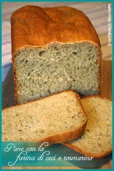 Ricetta per fare il pane con la farina di ceci aromatizzato al rosmarino con la macchina del pane Bread Machine Recipes, Bread Recipes, Baking Recipes, Focaccia Pizza, Happy Foods, How To Make Bread, Going Vegan, Diy Food, Finger Foods