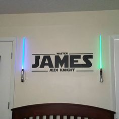 Vinyl Wall Decal personalisierte Master Name der Jedi-Ritter