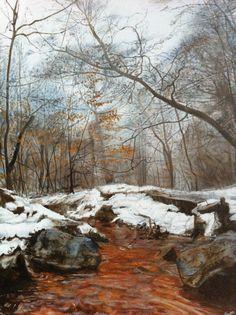 Red Beck, Heaton Woods, Bradford Oil paints