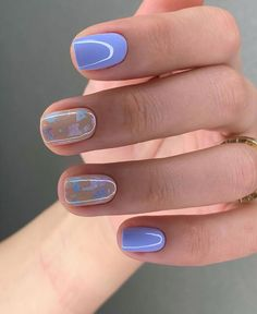 50 Cute Summer Nail Designs for gel nails designs trends 2020 Cute Short Nails, Cute Nails, Pretty Nails, Nail Polish, Gel Nails, Shellac, Nail Manicure, Finger, Nagellack Trends
