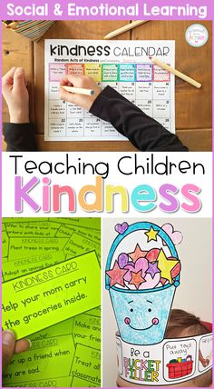 A kindness social emotional learning unit that includes 5 jam-packed lessons filled with hands-on activities, engaging discussions, and book activities that teach children about kindness. Complete a kindness challenge with random acts of kindness and become a bucket filler with this classroom system. #proudtobeprimary