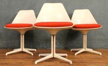 $92 Each (1 available) Burke Fiberglass Cushioned Shell Chairs (20w 18d 32h) (12j1204pl)