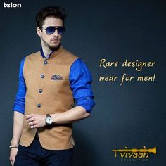 Ever tried wearing a to look dapper for a festivity? Give your ethnic wear a contemporary twist with Nehru Jackets this wedding season! Indian Men Fashion, Mens Fashion Wear, Mens Fashion Blog, Men's Fashion, Wedding Dress Men, Wedding Men, Wedding Suits, Nehru Jacket For Men, Nehru Jackets