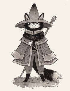 Inktober day 10, Mage Cat