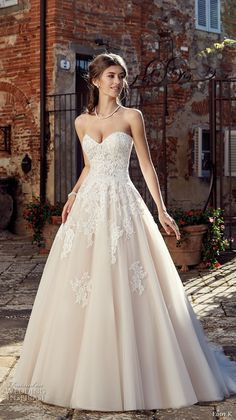 eddy k 2019 ek strapless sweetheart neckline heavily embellished bodice romantic a line wedding dress (17) mv -- Eddy K. 2019 Wedding Dresses #wedding #bridal #weddings
