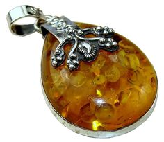 Adyson Sterling Silver Amber Pendant $43.20