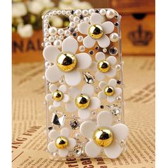 Marc Jacobs look-a-like Apple iPhone 4S Pearl Back Transparent Clear by bestphonecases, $27.00