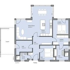 Haus Riedel Grundriss Modern House Floor Plans, Small House Plans, Cabin Homes, Cottage Homes, Bungalows, Building Design, Building A House, Affordable House Plans, Tiny House Living