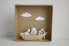 paper boat diorama by cara carmina