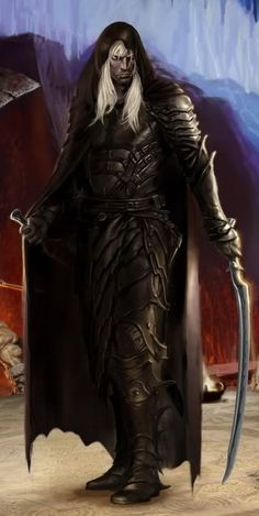 Drizzt Do'Urden. One of the most amazing, awesome, hot, wonderful, honorable heroes in all fiction!