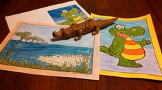 There are lots of crocodile and alligator pages to color on this page! You can type on these pages and you can use the booklet setting on your printer to make these into birthday cards or invitations with an alligator theme.
