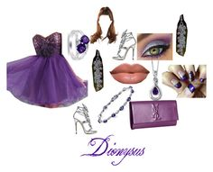 """""""Daughter of Dionysus-Homecoming Dance"""" by krazykitty00 ❤ liked on Polyvore"""