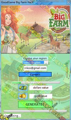Goodgame Big Farm Hack - main menu