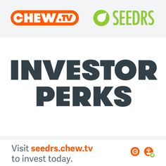 Did you know you can buy shares in Chew? We're crowdfunding on Seedrs and anyone can buy shares. We want to bring the music community into Chew as shareholders. Here are just a few of the Perks we have for investors ! #crowdfunding #chew #CHEWGIFS #chewtv #investors #perks