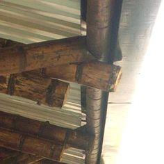 Boca de Pescado Bamboo Roof, Bamboo House, Bamboo Fence, Bamboo Restaurant, Concrete Cover, Bamboo Fountain, Bamboo Ideas, Bamboo Building, Bamboo Structure