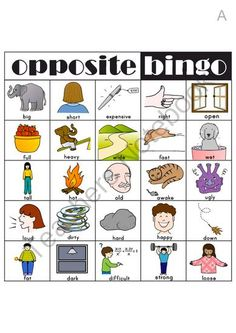 Opposite Bingo from OneTwoThree on TeachersNotebook.com (6 pages)