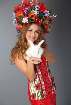 *Ukrainian woman with bunny
