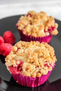 Raspberry Muffins With Streusel