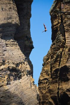 cliff diving. one adventure i'm not planning on.