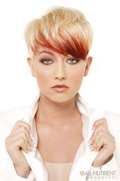 Pixie haircut 2014 2015 red lowlights blonde hair