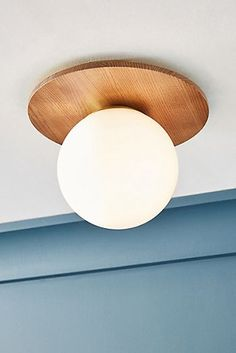 Tanner Globe Flush Mount by Anthropologie in Beige, Lighting Globe Ceiling Light, Flush Ceiling Lights, Flush Mount Lighting, Globe Lights, Ceiling Lighting, Glass Ceiling, 3d Home, Globe Pendant, Electrical Outlets