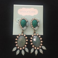 Maurice's Chandelier Earrings Very Art Deco and fun! These earrings are a statement piece in anybody's wardrobe! Maurices Jewelry Earrings