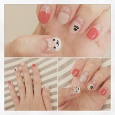 New nails short color nailart ideas Cat Nail Art, Animal Nail Art, Cat Nails, Korean Nail Art, Korean Nails, Ring Finger Nails, Minimalist Nails, Nail Decorations, Nail Manicure