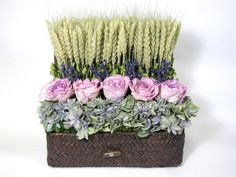 dried flower arrangements | Dried Floral Arrangement, Stacked Flower Arrangement, Valentines Day ...