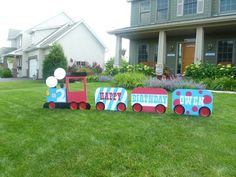 Owen's 2nd bday train party train!