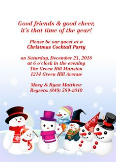 free christmas invitations templates