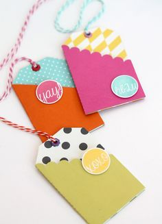 Modern & Bright Easy Gift Card Tags