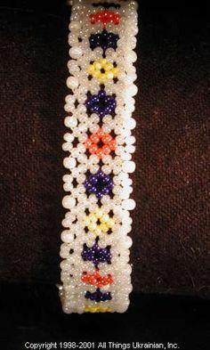 Ukrainian Gherdany Beadwork  # 01-6069  handmade in Ukraine. Originally sold on http://www.allthingsukrainian.com/Jewelry/index.htm