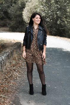 Best Autumn Outfits Part 16 Fashion Mode, Vogue Fashion, Fashion Outfits, Womens Fashion, Classy Outfits, Stylish Outfits, Fall Outfits, Leopard Print Outfits, Leather Jacket Outfits