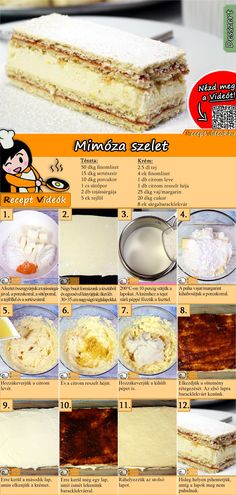 The Mimosa slices is an excellent dessert everyone should try! You can easily find the Mimosa Slices recipe by scanning the QR code in the top right corner! Cookie Recipes, Snack Recipes, Dessert Recipes, Good Food, Yummy Food, Classic Cake, Hungarian Recipes, Wedding Desserts, Sweet Cakes