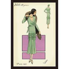 Buyenlarge Modeles Originaur: In Green by Atelier Bachroitz Framed Painting Print