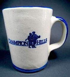 Coffee Mug Champion Hills Hand Thrown Stoneware Pottery Large Mug in Studio/ Handcrafted Pottery   eBay