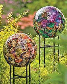 Mosaic Globes...so pretty!