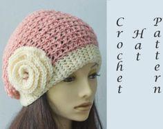 Easy Hat Crochet Pattern Crochet Cloche Pattern by beadedwire