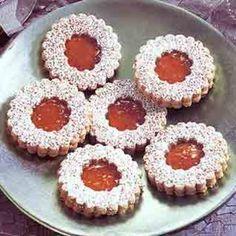 Hazelnut Apricot Linzer Cookies